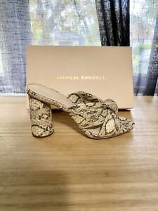 Loeffler Randall Coco Snake-Print High-Heel Mules Sz 7 New!