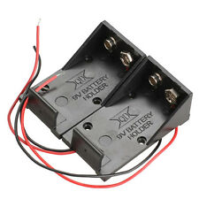 2pcs/lot Single Slot DC 9V Volt Battery Clip Holder Box Case with Wire Lead