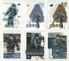 Jeff Jillson 18 Cards Upper Deck Hockey Exclusives Gold Signature #/25 #/50