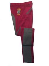 Sherwood Forest Ladies Two Tone Yield Jodhpurs - Dark Raspberry/melange Grey Size 16
