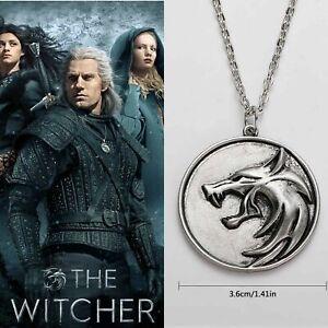 Witcher Netflix Wolf Medallion Necklace Pendant