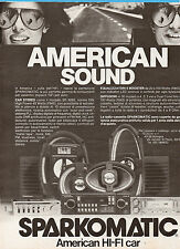 GENTEMOTORI983-PUBBLICITA'/ADVERTISING-1983- SPARKOMATIC AMERICAN HI-FI CAR