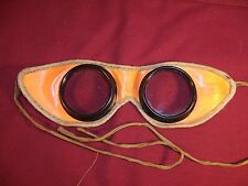 Vintage Kids Toy Costume / Clothing Goggles Helmet Racer Boy Racing Glass Lens