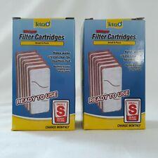"Tetra Whisper Filter Cartridges ""S"" Small Fish Aquarium Crystal Clear Water x 9"