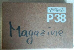 🔥 VINTAGE ORIGINAL German WALTHER P38 Cardboard PISTOL BOX