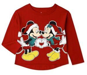 DISNEY MINNIE MOUSE CHRISTMAS SHIRT toddler & Baby Girls Sz 12M,18M,2T,3T,4T,5T