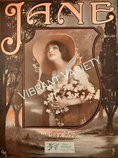 Jane 1915 Sheet Music By Halsey Mohr Cover Art By Andre De Takacs pretty woman