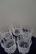 """Set of 5 Lead Crystal 8"""" Water Goblets -  Wine Glasses"""