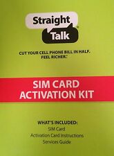 STRAIGHT TALK NANO SIM CARD ACTIVATION KIT (AT&T) GSM