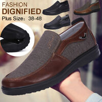 New Men's Leather Casual Shoes  Soft Sole Breathable Antiskid Loafers Moccasins