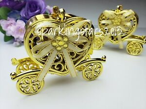 12 Carriages Trinket Box Baby Shower Wedding Party Favors Table Decorations Gold
