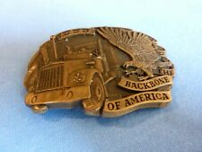 New listing Vintage Kenworth Truck Belt Buckle Backbone Of America