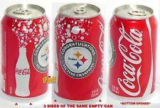 2010 COCA-COLA COKE PITTSBURGH STEELERS NFL FOOTBALL SUPER BOWL SPORTS SODA CAN