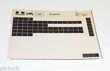 Microfich Ersatzteilkatalog Kawasaki KX 500 Model 1986 Stand 08/1985