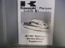 Kawasaki Factory Service Manual Supplement 1991 JS550C1 JS550 C1