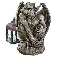Bat Like Winged European Style Gothic Sentinel Taloned Fierce Gargoyle Sculpture