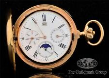 Very Rare LeCoultre Grand Complication 18K Minute Repeater Calender Pocket Watch