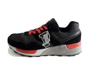 POLO RALPH LAUREN scarpa sneakers UOMO-TRACKSTR 100 - BLACK