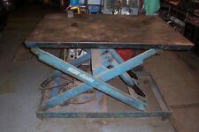 Electric Hydraulic Scissor Lift Table 2000 Lb Capacity 42 X 60 Table