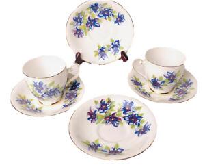 Vintage Royal Grafton Fine Bone China Tea Cups And Saucer Set