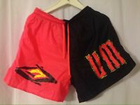 Vintage 1990's Umbro Nylon Large Soccer Tennis Shorts Hot Pink + Black
