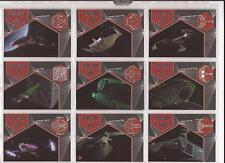 """Star Trek Aliens - """"Alien Ships"""" Set of 10 Chase Cards #S1-10"""
