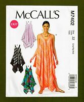 Easy Pullover Dress & Pull On Jumpsuit Sewing Pattern (Size L-XXL) McCalls 7402