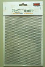 "1.7mm x 3.5mm Diamond Mesh Stainless Steel Grating Metal Maquett 7.9""x5.5"" Sheet"