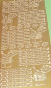 Peel Off Stickers - Words & Phrases Various - Gold, Silver