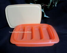 Tupperware NEW Healthy Snack Breakfast Granola Bar Maker Container Orange Yellow