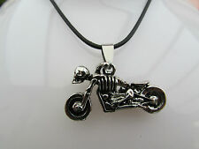 """A SILVER SKELETON NIGHT RIDER NECKLACE. 16"""" ."""