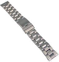 Acero Inox Pulsera de Reloj Cinta Metal con Cierre Desplegable 20-28mm Banda 1