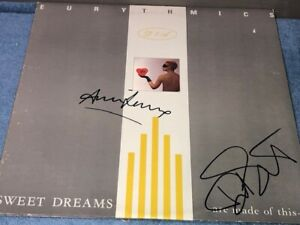 Annie Lennox & Dave Stewart Signed Eurythmics Sweet Dreams Record Album LP
