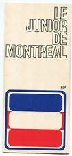1972-73 Quebec Remparts VS Montreal Junior Game Program