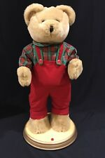 Gemmy Christmas Hip Swinging Singing Dancing Teddy Bear Here Comes Santa Claus