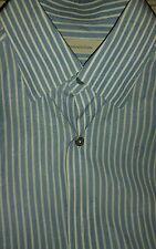 Ermenegildo zegna dress or casual shirt sz M blue, white striped paisley