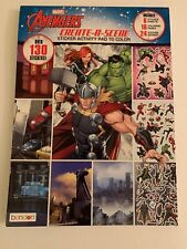 Marvel Avengers Create A Scene Stitcker Activity Pad Coloring Book Bx N