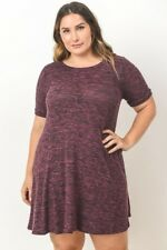 Plus Size Short Sleeve Burgundy Tunic Size 2X New Without Tags