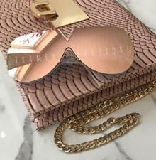 ROSE GOLD Pink SHIELD SUNGLASSES  DESIGNER STYLE  British Company