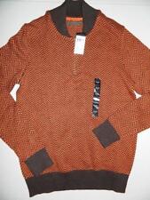 Sean John Men's Shawl‑Collar Sweater 100% Cotton Coffee NWT Sz L MSRP$64 SW411