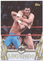 TOPPS WWE Legends 2018 COMPLETE Master BASE SET w/ Insert Subsets (100 Cards)