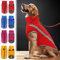 Pet Dog Padded Waterproof Jacket Large Coat Fleece Warm Winter Clothes Vest