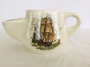 Staffordshire Wade England Shaving Scuttle Mug~Schooner Sailing Ship~Victoria