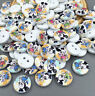100pcs Mini Wooden Buttons Fit Sewing scrapbook Embellishment 11.5mm