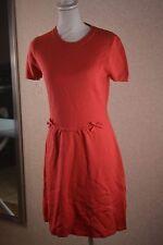 Valentino Red virgin wool,coral shortsleeve dress, small