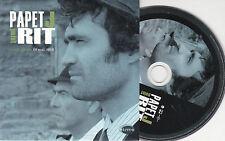 CD CARDSLEEVE COLLECTOR 3T PAPET J  FIN DE SEMAINE 3 EXTRAITS DE POINT RIT 2010
