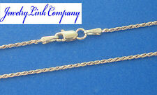 """14K Solid White Gold 1.3mm Diamond Cut Rope Chain 30"""" 4.5grams Italian Made"""