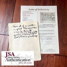 JOHN LENNON * JSA LOA * Handwritten Autograph Prose Poem Lyrics * Not Signed