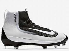 $100 Nike Huarache 2K Filth Mid Metal Baseball Cleats Shoes Black White 8