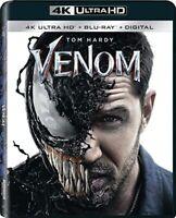 Venom 4K ULTRA HD BLURAY Tom Hardy DIGITAL CODE MOVIEANYWHERE